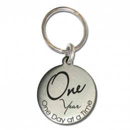 One Year Sobriety Keychain