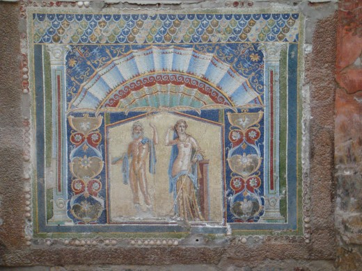 Fresco in Herulaneum