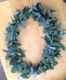 Some of the branches naturally lent themselves to oval shaped wreaths, others to round ones or swags.