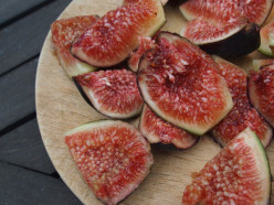 Cut the fresh figs into wedges.