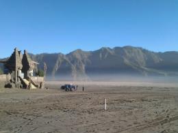 Sea of sand in Tengger Caldera.