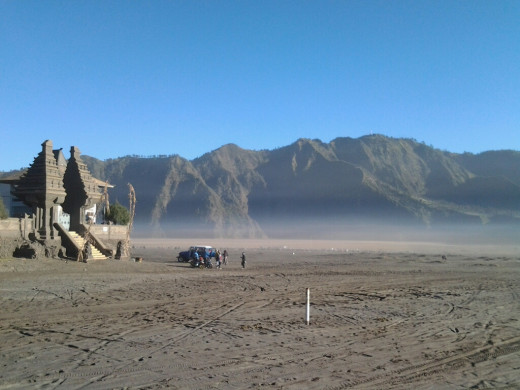 Sea of sand in Tengger Caldera.