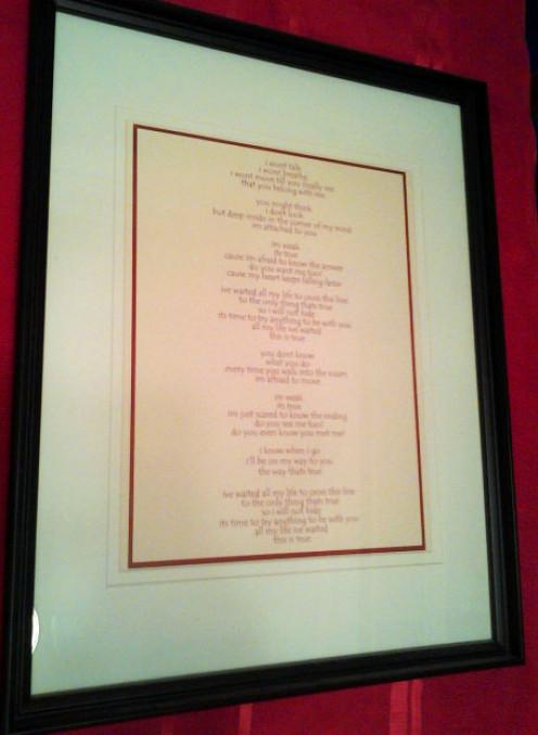 Framed Song Lyrics