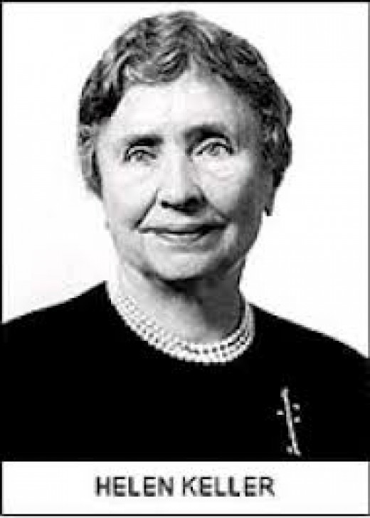 Helen Keller was an inspiration to millions of people worldwide. She overcame in her childhood what most people do not have to deal with in an entire lifetime.