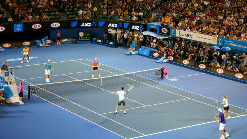 "Roger Federer's ""Hit for Haiti"" charity event was held just prior to the 2010 Australian Open. Proceeds from the event helped with relief efforts for victims of the 2010 Haiti earthquake."
