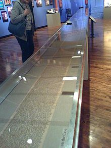 The original scroll that Kerouac composed in 1951 can be found in the Boott Cotton Mills Museum in Lowell,  Massachusetts.