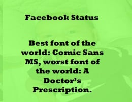 A funny Facebook Status Message