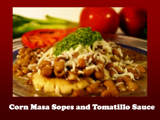 Make delicious sopes and green sauce!