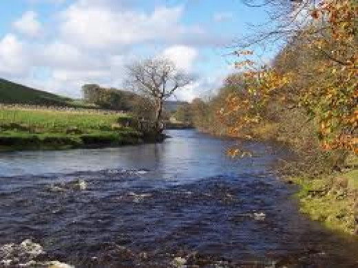 The River Wharfe near Grassington, south of Kilnsey