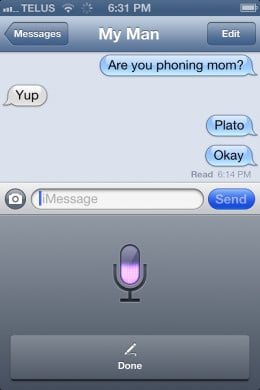 Talking out my message on iPhone 4S