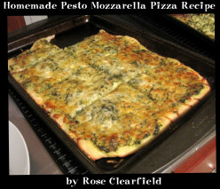 Homemade Pesto Mozzarella Pizza Recipe