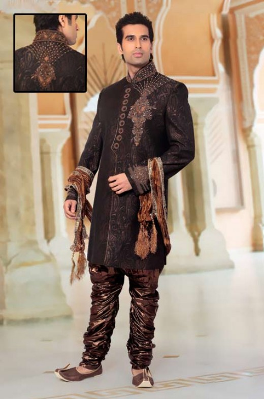 Pin indo western wedding dresses on pinterest for Indo western wedding dress for men