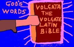 God's words in Latin.