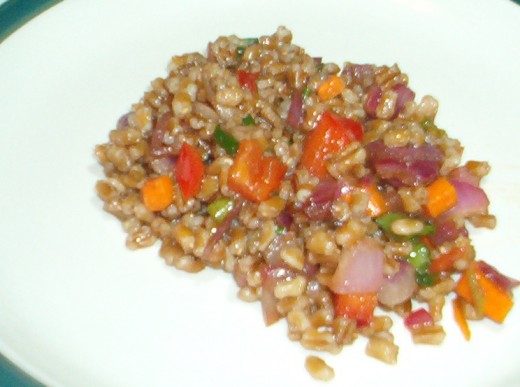 Wheat berry salad is a nutrition-packed lunch option.
