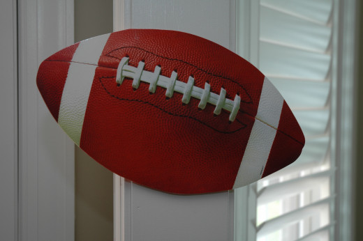 Football Die-Cut Party Decoration!