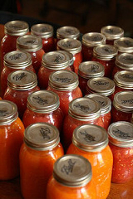 Home made tomato sauce can last you all winter if stored properly