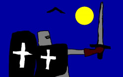 Mysterious knights in Gothic tales.