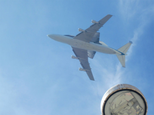 Not the best angle, but how many people can say they've been directly under the space shuttle?  [Sept 21, 2012, 12:30PM, Anaheim]