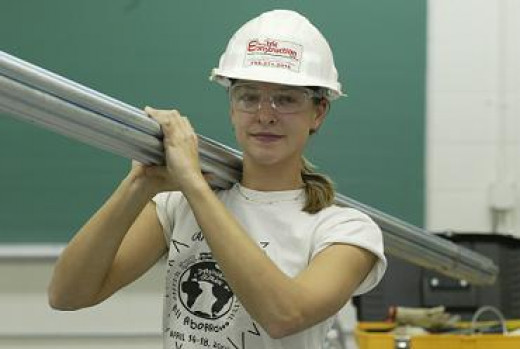 I'm totally for cute young women becoming electricians....for several reasons, actually.