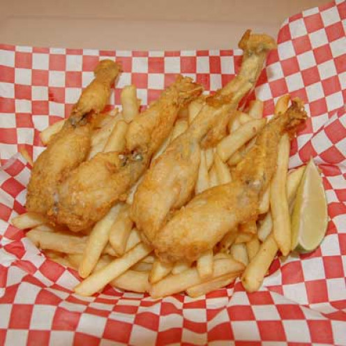 Fried frog legs (California)