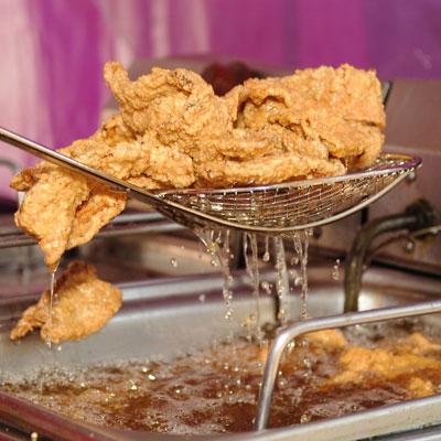 Chicken fried bacon (Texas & Hawaii)