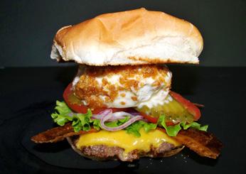 Cheese burger fried ice cream (Florida)