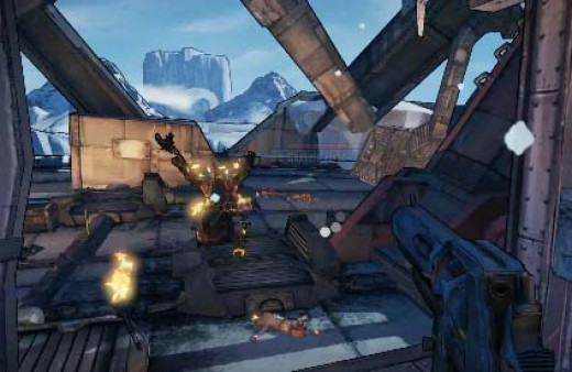 Borderlands 2 Defeat Flynt.  Watch out! Flynt is about to unleash his pyro attack. L uckily the hero is in the shack. Smart!