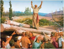 Noah preaching and warning the people about the Great Flood (Photo Credit: http://mormonthink.com/)