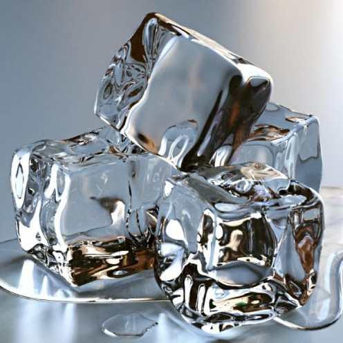 Ice cubes help to cease nose bleeding