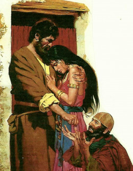 Prophet Hosea and wife Gomer-a harlot (Photo Credit: http://blog.adw.org/)
