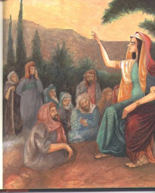 This is the prophet Deborah, acting as a judge in the Holy Land. (Photo Credit: http://www.franmanushkin.com/)