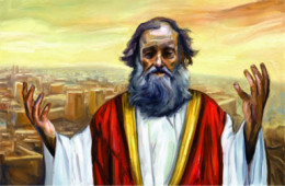 Prophet Jeremiah, deeply troubled with God's people as they will be held captive in Babylon (Egypt) for 70 years (Photo Credit:http://hookedonthebook.com/)