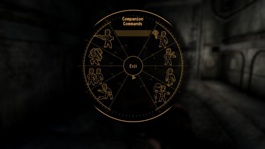 The companion wheel with which you can command companions.