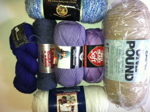 Various Brands of Yarn