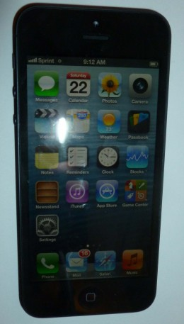 Bad picture of My new Iphone 5