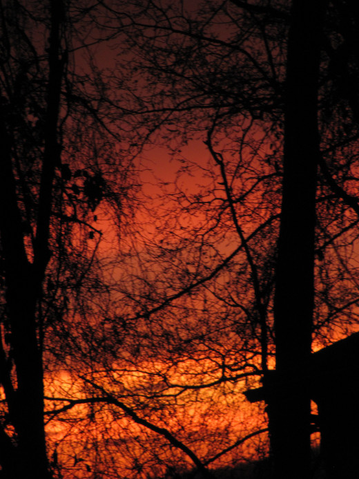 This image taken in March of 2012 literally looked as if the sky was on fire.