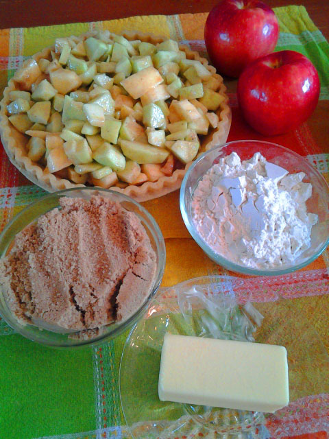 Apple Pie with Crumble topping ingredients