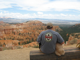 Sammy with Dad taking a look at Bryce Canyon about 2 months before he passed away.