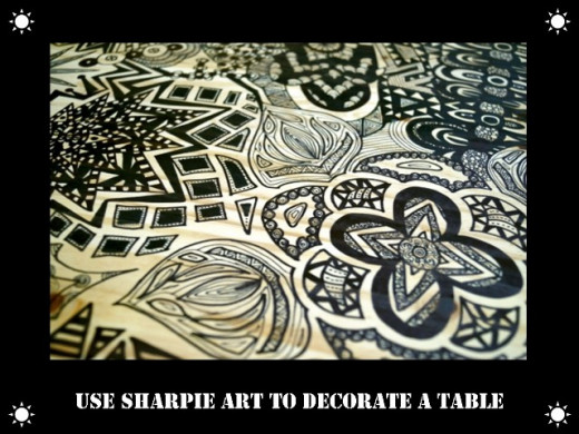 Sharpie art, done with doodles.