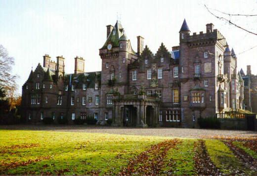 Kinnaird Castle near Brechin, Scotland