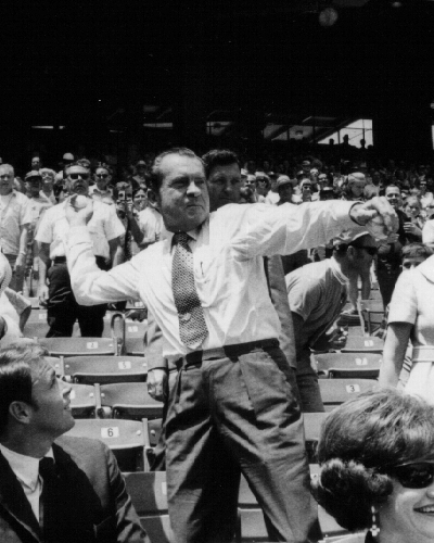 President Richard Nixon was at the first baseball game I ever attended.