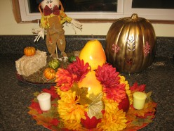Thanksgiving Centerpieces  - 3 Easy Craft Projects