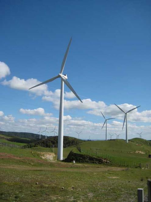 Te Apiti Wind Farm, near Palmerston North, New Zealand.