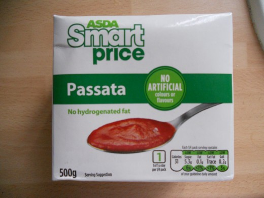 Passata can be used instead of tomato puree to give a slightly richer taste.