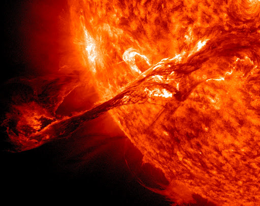 A huge solar flare