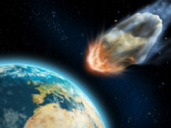 ARTIST'S IMPRESSION OF ICARUS HITTING EARTH
