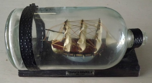 Collectible Ship in a Bottle
