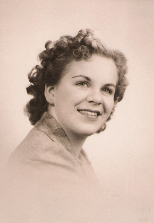 My mother's high school photo in 1943.  Carol Trenkamp