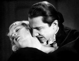 Count Dracula had a way with lovely women.  Here Bela Lugosi seduces  Helen Chandler.