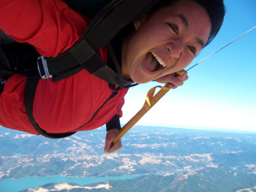 Skydiving was my high school graduation gift... to myself, purchased by me!